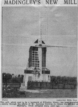 """Madingley's new mill"""