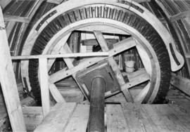 Windshaft and brakewheel of Great Bircham Mill