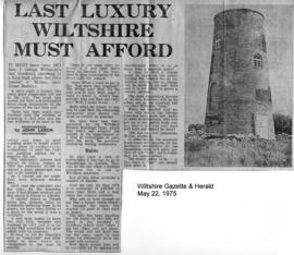 """Last luxury Wiltshire must afford"""