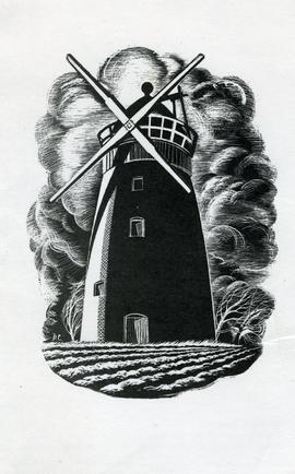 Printed Illustration of Tower Mill, Thaxted, Essex