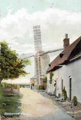 Page's Mill, Debenham, and cottages