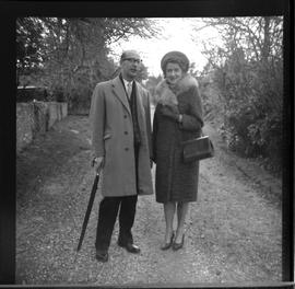 Cecil and Ann Farthing at Davidge Cottage, Knotty Green