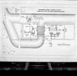 Copy of a plan of the pumps and turbines probably drawn by J Addison