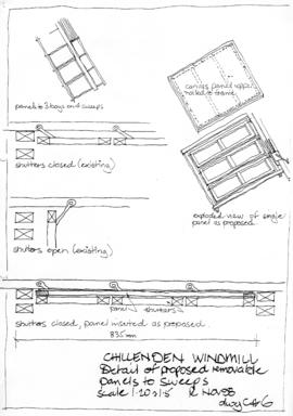 Details of removable sweep panels