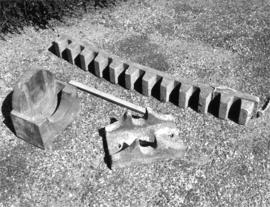 Curb teeth, tail bearing chair and truck wheel trunnion, Frost's Mill, Halstead