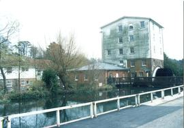 Crabble Corn Mill, Temple Ewell and River
