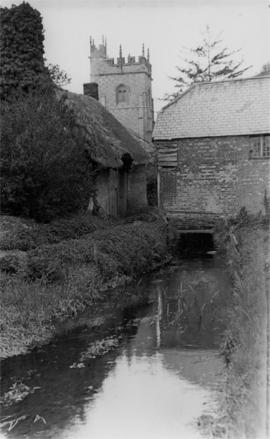 Downstream view, Affpuddle Mill, Affpuddle