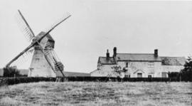 Smock mill, South Weston, and surrounding buildings