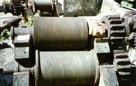 Photograph of roller mill rolls, Martinique