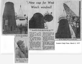 """New cap for West Winch windmill"""