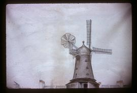 Rose Hill Mill, Brighton, photograph of watercolour