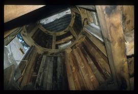 Inside view of building, smock mill, Buckland