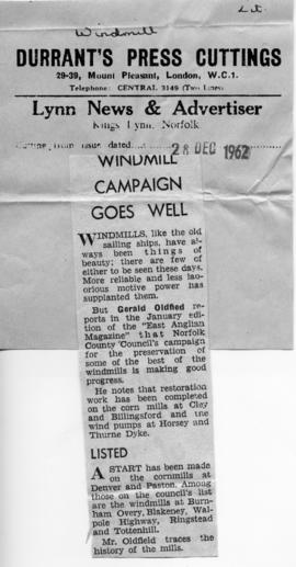 """Windmill Campaign Goes Well"""