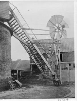 Fantail and ladder, Station Mill, Aldeburgh