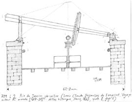 Cross-section of a jib sail tower mill, Rio de Janeiro