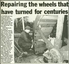 """Repairing the wheels that have turned for centuries"""