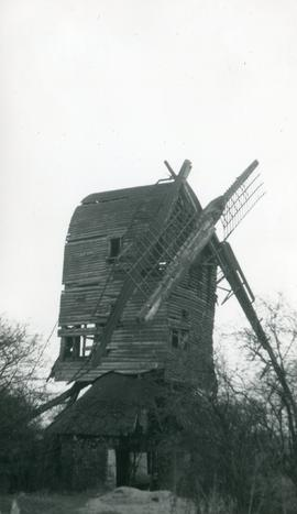 Derelict Buck with one missing sail, Doe's Mill, Mount Bures