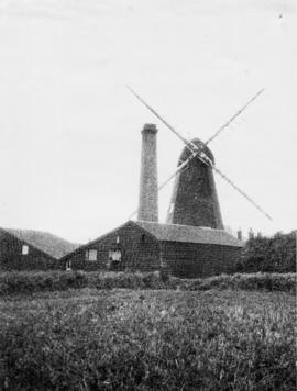 Smock mill, Newington, Ramsgate, chimney adjacent