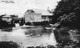 View from downstream, watermill, Coultershaw