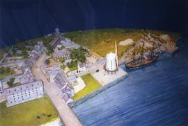 Photograph of a model of Blennerville windmill, Kerry, Ireland