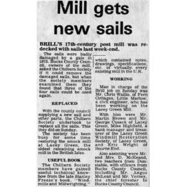 """Mill gets new sails"""