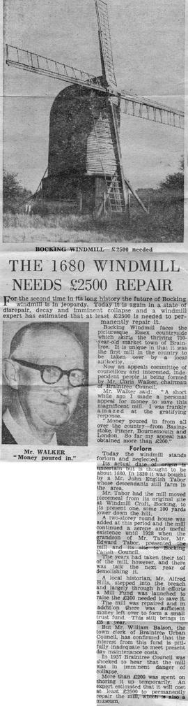 """The 1680 windmill needs £2500 repair"""