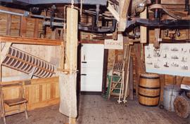 Interior of first floor showing wire machine, Drapers Mill, Margate