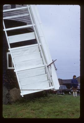 Detail of spring sail, post mill, Wrawby