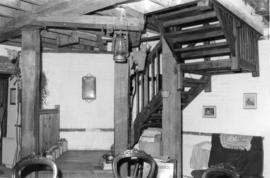 Interior view showing staircase, Upper Mill, Eastry