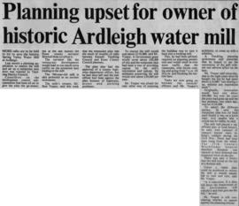 """Planning upset for owner of historic Ardleigh water mill"""