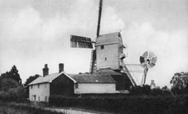 Post mill, Laxfield, in working condition