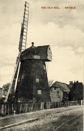 Postcard of the Old Mill, Enfield