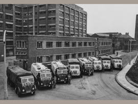 Rank Hovis vehicles, Baltic Mills, Gateshead