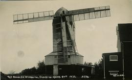 The Damaged Windmill. Cross-in-Hand. Oct 1932