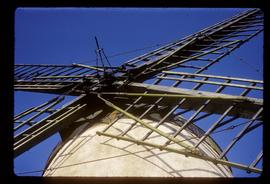 Detail of mechanism of roller reefing sails, Ballycopeland Windmill, Millisle