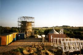 General view of work site at Heage Tower Mill