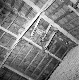 Detail of roof structure and pully, Barcombe Farm, Alton Pancras