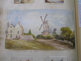 Photograph of painting of Thorrington Post Mill