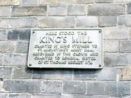 Plaque marking site, King's Mill, Canterbury
