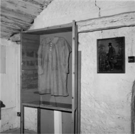 Country labourer's smock in museum section, smock mill, West Blatchington