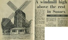"""A windmill high above the rest in Sussex"""
