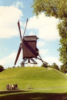 Working post mill at Bruges, Belgium, summer 1972