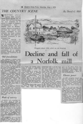 """Decline and fall of a Norfolk mill"""