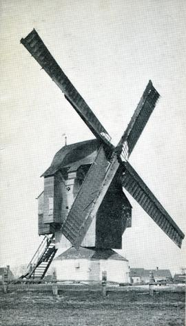 Greeting card of Marck Windmill, Pas de Calais, France