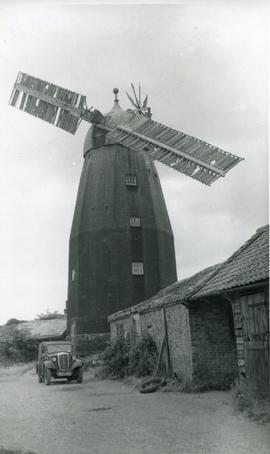 Downfield Mill, Soham, with Two Broken Sails