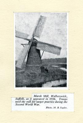 """Marsh Mill, Walberswick, prior to its use for target practice"""
