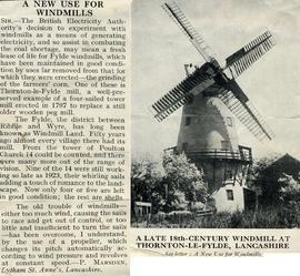 """A new use for windmills"""