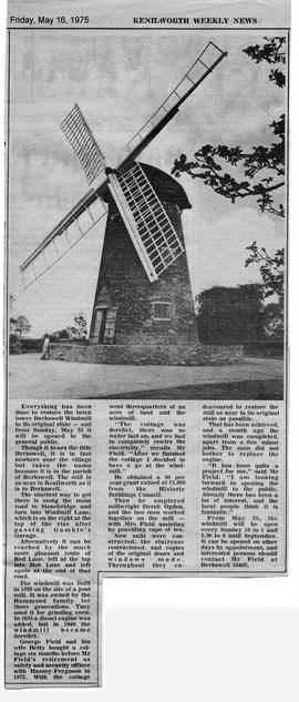 """Berkswell Windmill opens to public"""