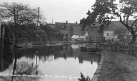 View from upstream, Longford Mill, Dunton Green