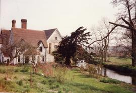 View downstream, Chartham Corn Mill, Chartham, Canterbury